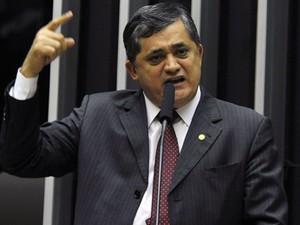 Os líderes do PT, José Guimarães (CE) (Foto: Luis Macedo/Ag.Câmara)
