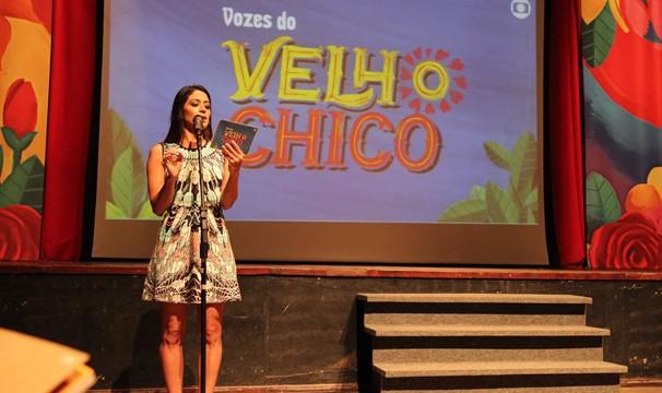 Atriz Carol Castro participa do evento de lançamento (Foto: Divulgação)