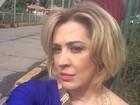 Claudia Raia faz selfie em primeiro dia de gravação de novela