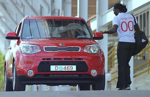 Ação da Kia surpreende time de Trinidad e Tobago (Foto: Reprodução)