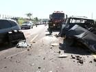 Acidente mata motorista e deixa sete pessoas feridas em Olímpia