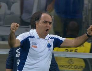 Marcelo Oliveira comemora vitória sobre o Botafogo (Foto: Reprodução / Premiere FC)