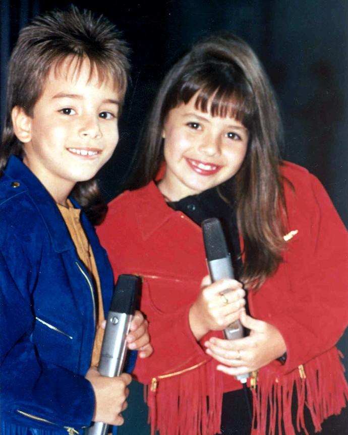 Sandy lembra do primeiro show que fez ao lado de Junior, aos sete anos (Foto: Arquivo Pessoal)