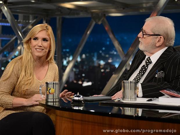 Flávia Rita Sarmento participa do Programa do Jô desta quinta-feira (Foto: TV Globo/Programa do Jô)
