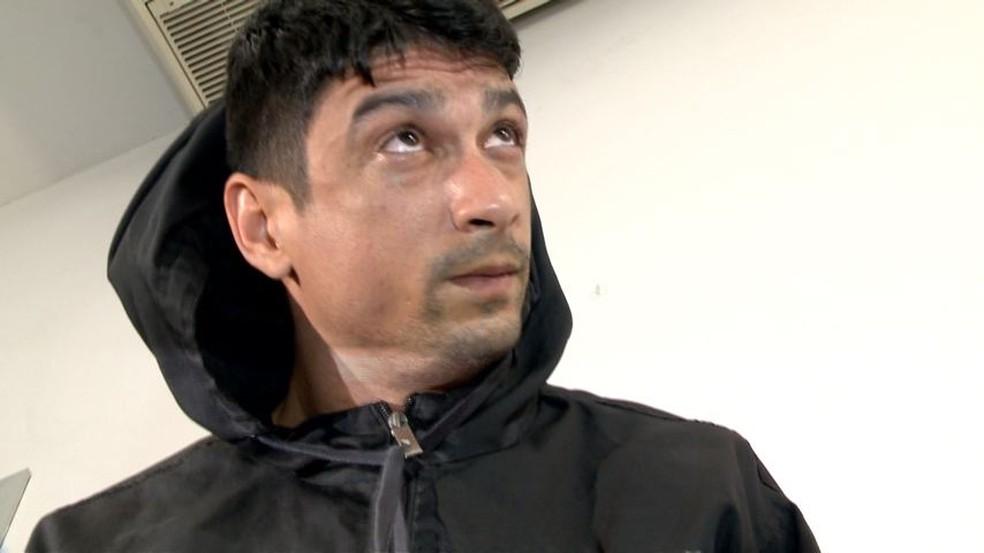 Gercie é preso com droga em prédio de luxo (Foto: Reprodução/ TV Gazeta)