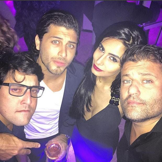 Bruno De Luca, Jesus Luz, Carol Ramiro e Peterson Ibrahim em festa na Zona Sul do Rio (Foto: Instagram/ Reprodução)
