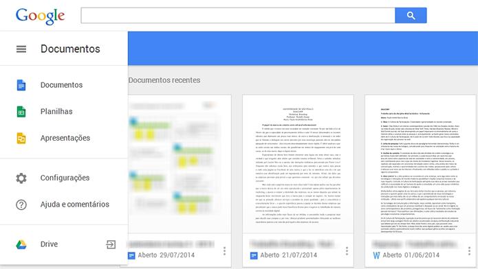Interface traz até o mesmo menu lateral da versão Android (Foto: Reprodução/Paulo Alves)