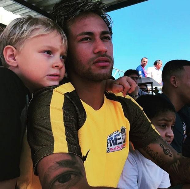 Neymar e o filho (Foto: Reprodução Instagram)