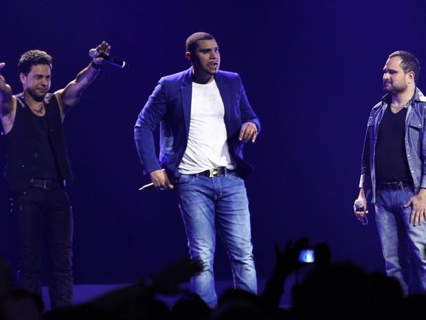 Zezé Di Camargo, Naldo e Luciano em gravação de DVD em São Paulo (Foto: Manuela Scarpa/ Foto Rio News)