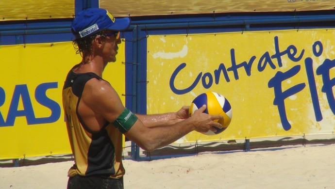 Emanuel, atleta do vôlei de praia (Foto: Viviane Leão/GloboEsporte.com)
