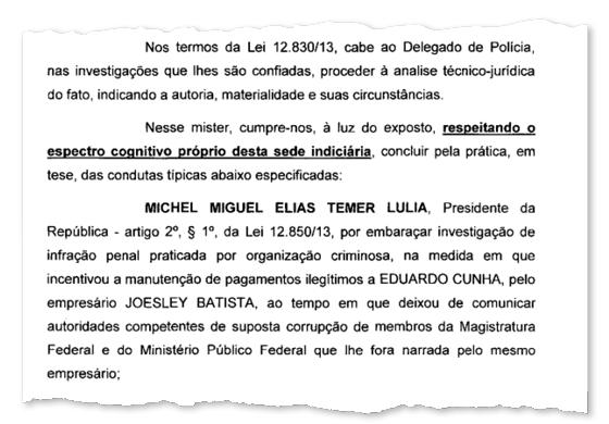 PF conclui que Temer obstruiu a Justiça (Foto: ÉPOCA)