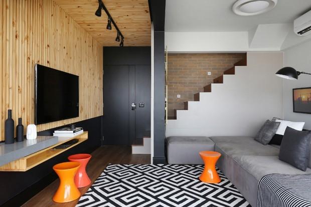 projeto-ellen-saravalli-apartamento-pequeno-jovem-despojado (Foto: Mariana Orsi / Divulgação)