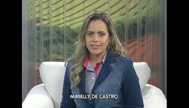 Apresentadora do programa, Mirielly de Castro  (Foto: Reprodução / TV Diário)