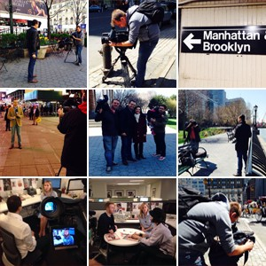 Repórteres foram até Nova York falar com personagens da série (Divulgação / TV TEM)