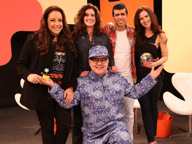 Marcius Melhem, Ingra Liberato, Ana Carolina e Lcia Verssimo participam do ltimo programa (Foto: VIVA / Humberto Souza)