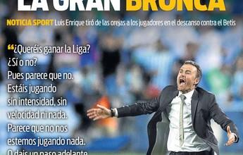 """Jornal diz que bronca de Luis Enrique no intervalo """"salvou a liga"""" para Barça"""