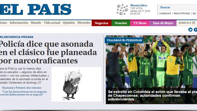 Chape El Pais (Foto: Imagem)