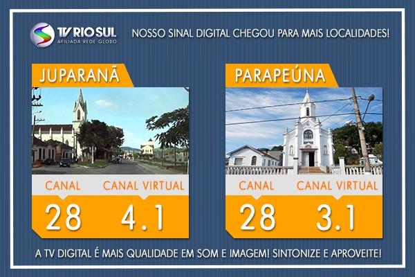 Moradores de Barão de Juparanã e Parapeúna já têm o sinal digital da TV Rio Sul (Foto: TV Rio Sul)