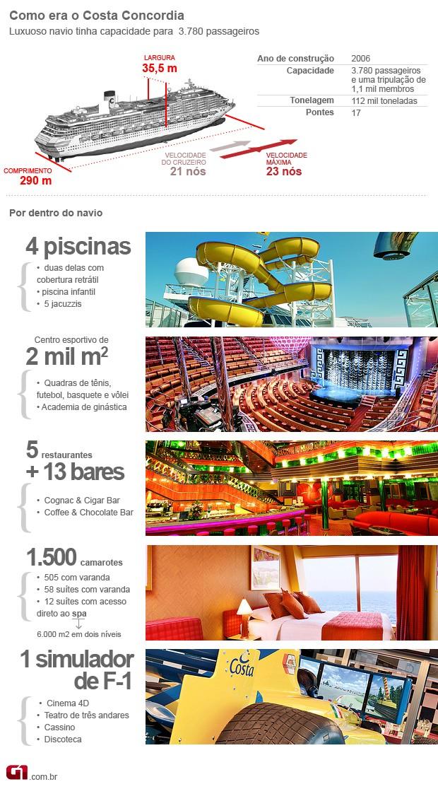 Arte Costa Concordia (Foto: Arte G1)