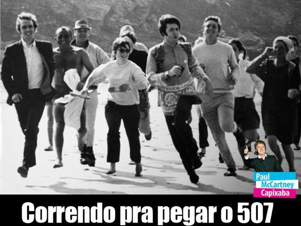 Correndo pra pegar o 507 (Foto: Reprodução/ Facebook)