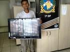 Polícia prende homem suspeito de furtar TV da Defensoria Pública de RR