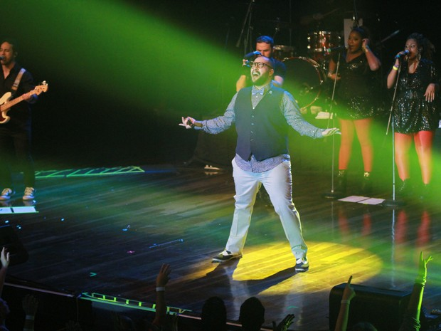 Tiago Abravanel em show em São Paulo (Foto: Amauri Nehn/ Brazil News)