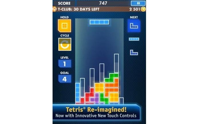 O game Tretis também virou aplicativo (Foto: Reprodução)