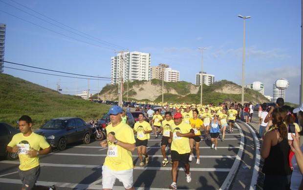 Corrida 400 anos de São Luís realizada domingo (22/07), na Praia do Calhau (Foto: Zeca Soares/G1)
