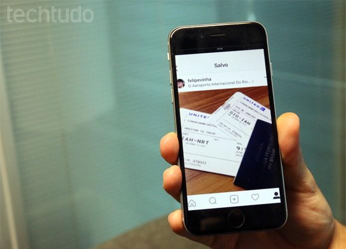 Prática comum, fotos de passagem no Instagram podem comprometer dados (Foto: Gabrielle Lancellotti/TechTudo)