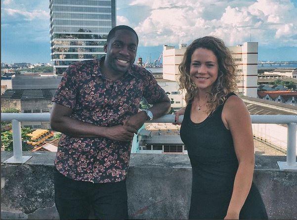Leandra Leal e Lázaro Ramos no programa Espelho (Foto: reprodução/instagram)