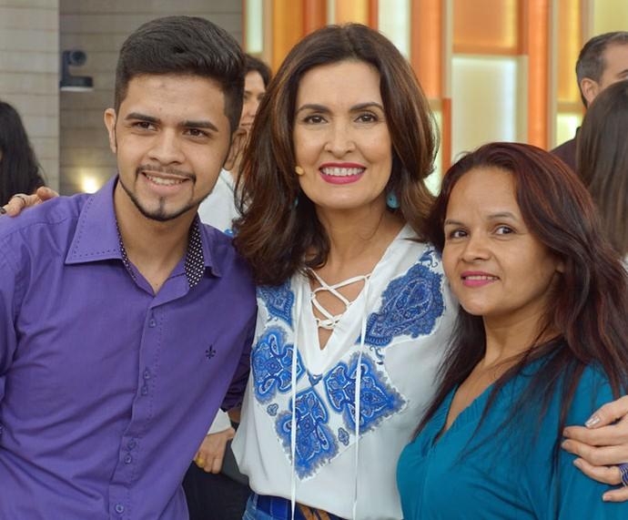 Mais convidados com a Fátima  (Foto: Vinícius Cunha/Gshow)