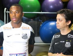 Robinho Santos exame (Foto: Bruno Giufrida)