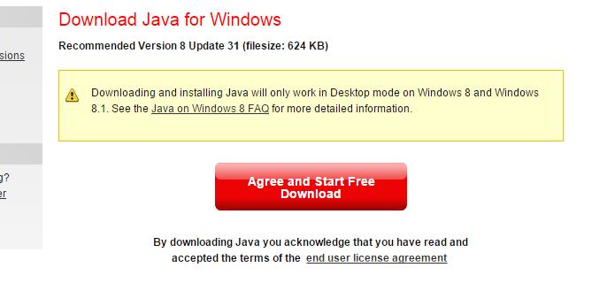 Baixando a última versão do Java (Foto: Reprodução/Helito Bijora)