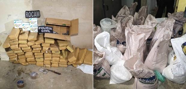 Drogas apreendidas foram levadas para o Itep de Mossoró (Foto: Marcelino Neto/O Câmera)