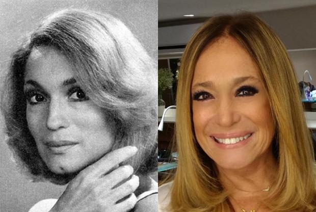 Susana Vieira em 1976 e em 2017 (Foto: Reprodução/Instagram)