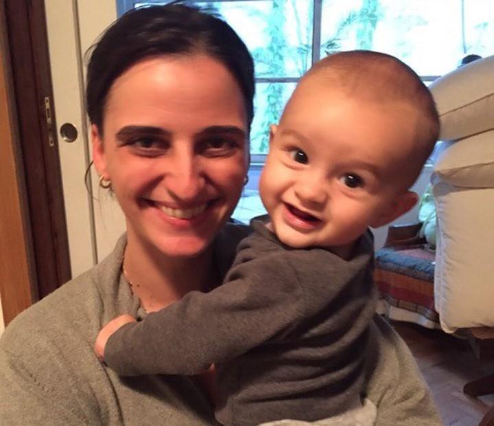 Orgulhosa, Christiana Kalache apresenta seu herdeiro, de 11 meses (Foto: Arquivo Pessoal)