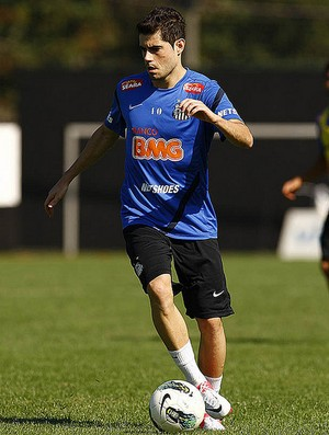 Miralles no Santos (Foto: Ivan Storti/Divulga&#231;&#227;o Santos FC)