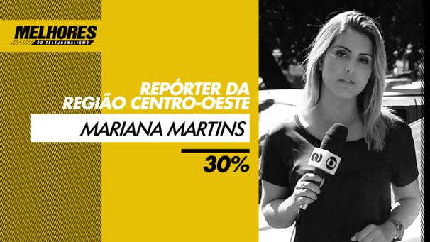 Mariana Martins levou o prêmio de 'Melhor repórter local do Centro-Oeste'. (Foto: Divulgação)