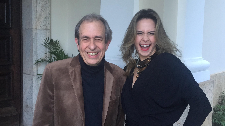 Ana Paula contracenou com o Casseta Reinaldo na nova srie do Multishow (Foto: Divulgao)