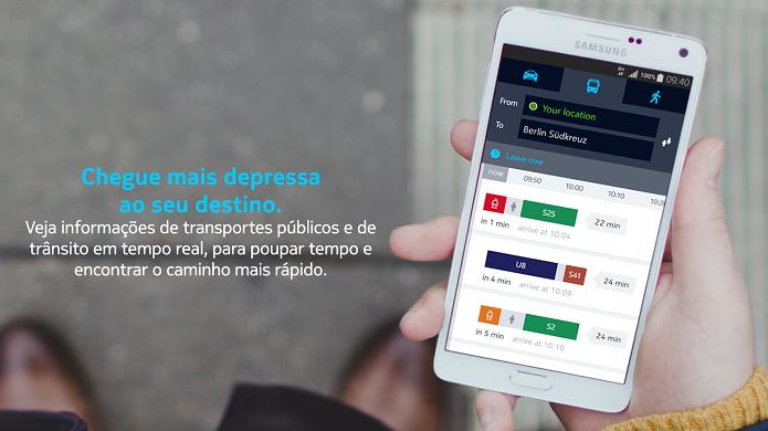 HERE é um app com informações de transportes públicos e do trânsito (Foto: Aline Jesus/Divulgação)