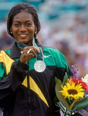 Merlene Joyce Ottey (Foto: Mike Powell / Agência Getty Images)
