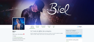 Biel fecha seu perfil no Twitter (Foto: Reprodução)