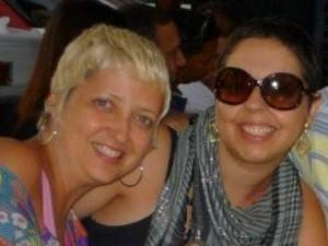 Ludmila e a colega Larissa, criadoras do blog Cicatrizar, em Goiânia, Goiás (Foto: Arquivo pessoal)