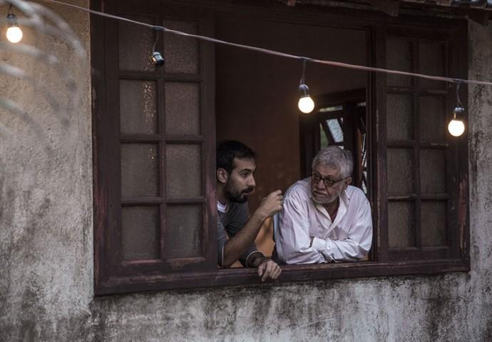 Waltinho sempre atento a tudo! (Foto: Gabriel Nascimento/Gshow)
