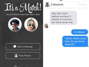 O aplicativo de paquera e para conhecer novas pessoas Tinder. (Foto: Divulgação/Tinder)