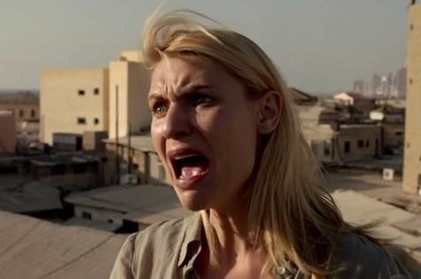 Claire Danes, a agente bipolar Carrie Mathison de 'Homeland' e sua famosa cara de choro (Foto: Reprodução da internet)