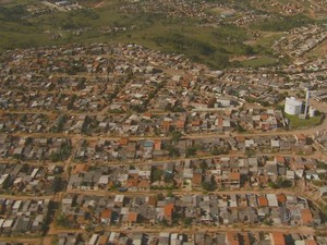 Imagem panorâmica da áerea da periferia de Campinas (Foto: Reprodução / EPTV)