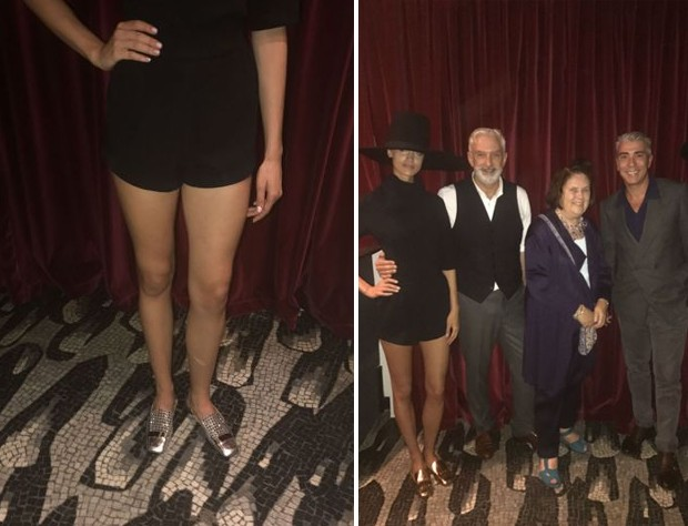 Suzy with Patrick Kinmonth and Antonio Monfreda at Sergio Rosso theatre show (Foto: @SuzyMenkesVogue)