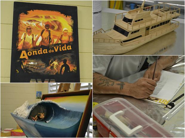 Em penitenciária do Espírito Santo, detentos produzem obras de arte (Foto: Viviane Machado/ G1 ES)