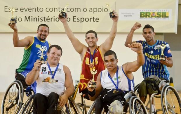 Equipe All Star do Campeonato Brasileiro de Basquete em Cadeira de Rodas - Segunda Divisão (Foto: Marcelo Lacerda/CBBC)